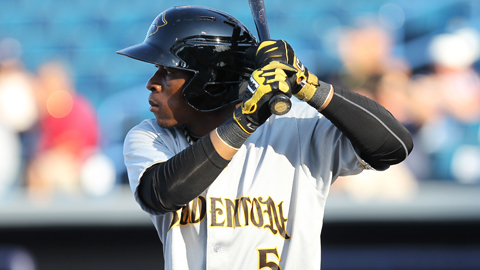 Gift Ngoepe ranked fifth in the Florida State League with 63 walks.