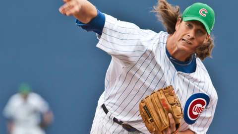 RHP Jeff Samardzija led the Cubs in victories, innings pitched & strikeouts in 2012.